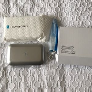 PhoneSoap 3 in Silver UV phone sanitizer NIB
